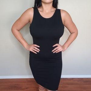Backless body on dress